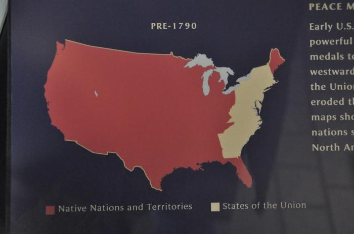 Mapa dos indios nos EUA 1