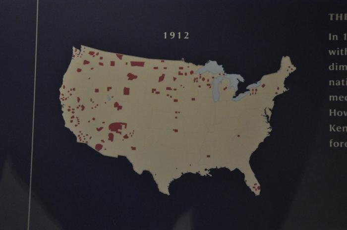 Mapa dos indios nos EUA 6