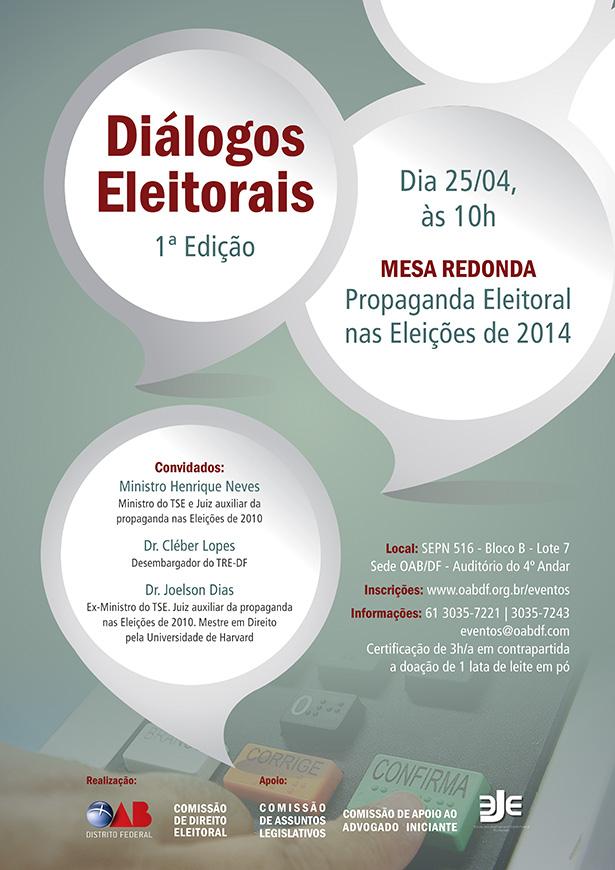 Diálogos eleitorais (OAB/DF)