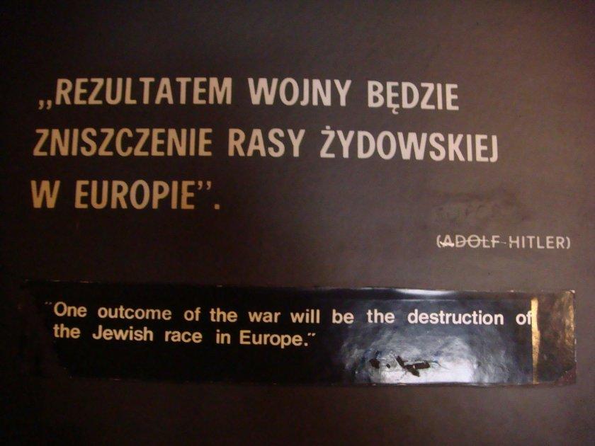 """""""Um resultado da guerra será a destruição da raça judaica na Europa."""""""