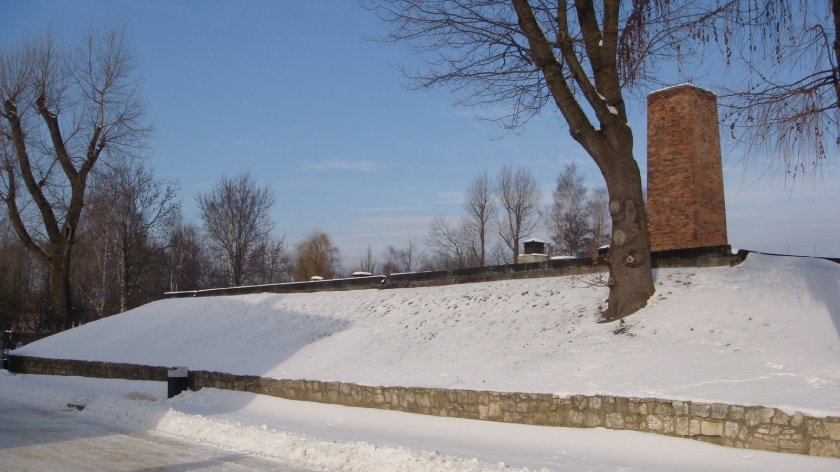 A câmara de gás e o crematório de Auschwitz I