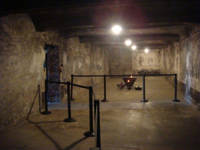 Interior da câmara de gás