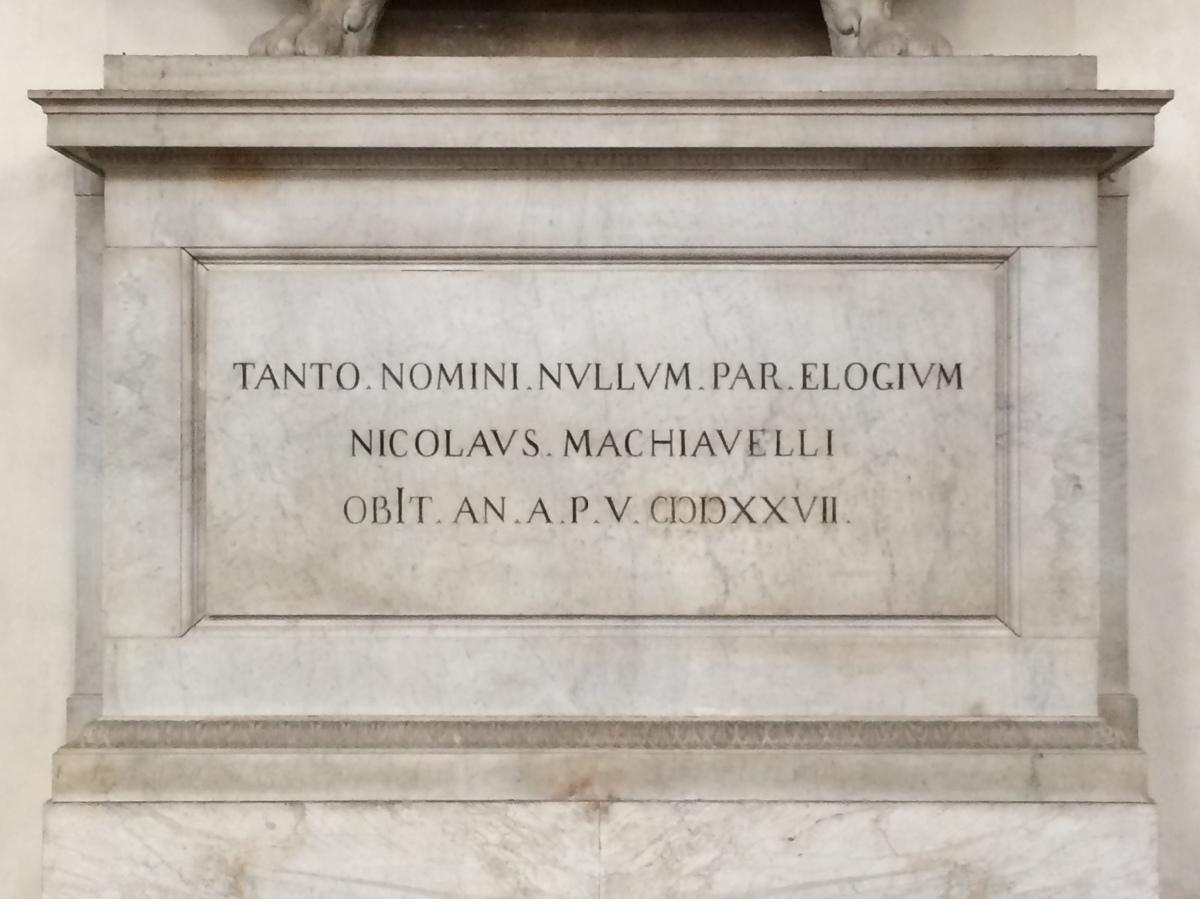 Visita ao túmulo de Maquiavel em Florença,Itália